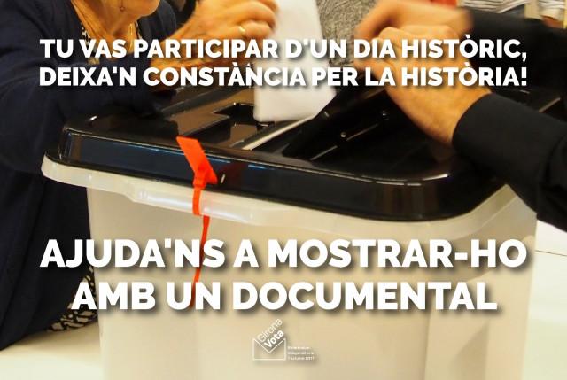Realització 2 documentals sobre l'1 octubre 2017 a Girona