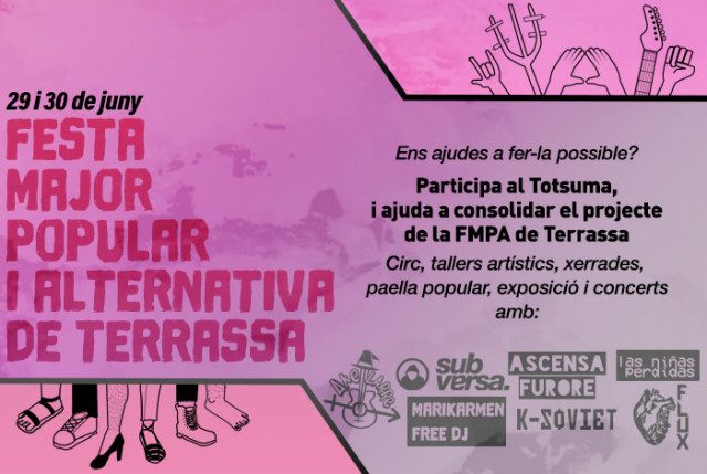 Ajuda'ns a construir una Festa Major Alternativa i Popular, a Terrassa!
